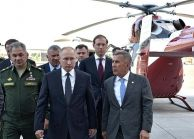 Russian Helicopters Holding Presented Ansat, Mi-8MTV-5-1 and Mi-38T Helicopters to Vladimir Putin