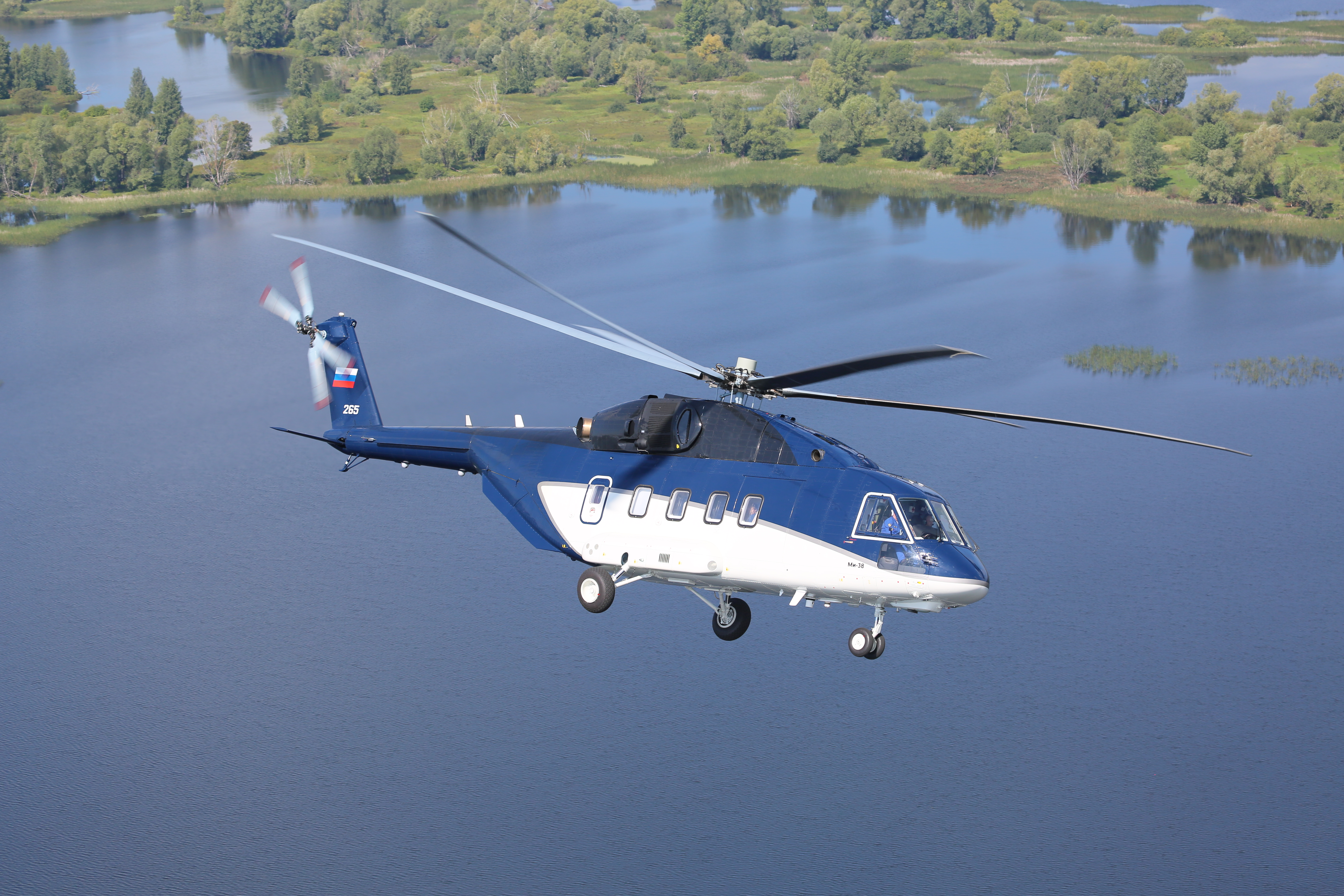 Rostec Presented the First Serial Mi-38 Helicopter at MAKS